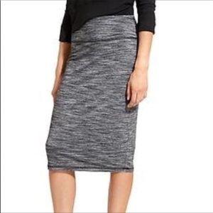 Athleta High rise tube skirt heathered gray size S